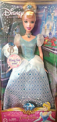 Cinderella barbie doll Disney Gem Princess with Ring Brand New in box