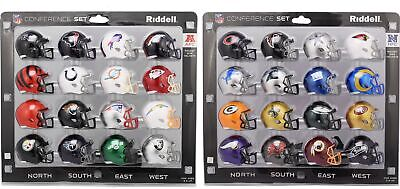 All 32 Nfl - Afc & Nfc Pocket Pro Speed Mini Helmet Set 32 Piece New In Packages