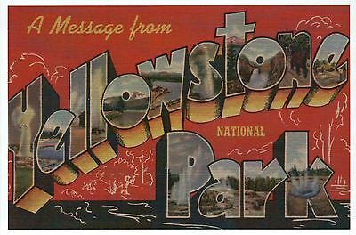 A Message from Yellowstone National Park, Wyoming - Modern Large Letter Postcard