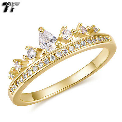 Womens TT 14K Gold GP Crown Band Ring (RF115) NEW Arrival