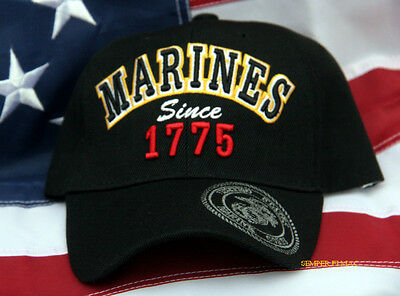 Us Marines Since 1775 Hat Cap Wowmh Pin Up Fmf Maw Mar Div Veteran Gift