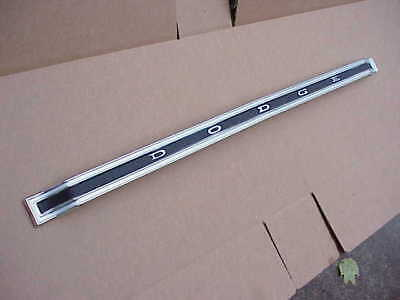 1969 Dodge Mopar NOS 69 Dart Trunk FINISH PANEL 1968 Moulding