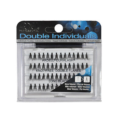 Double Flare Long Knot Free Duralash by Ardell Individual Natural Black