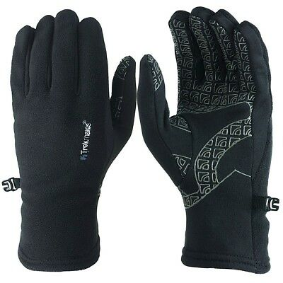 Trekmates Rossett Glove S - light fleece finger gloves with anti-slip grip surfa