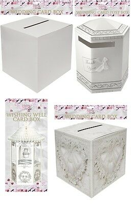Wedding Card Receiving Post Box Wishing Well Dove Heart Design White 4 Design Uk