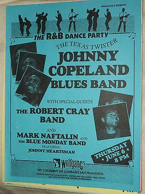 Johnny Copeland 1985 Gig Flyer Robert Cray Mark Naftalin Blue Monday WolfGangs