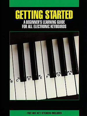 Getting Started Electronic Keyboard Beginner Lessons Hal Leonard Book NEW