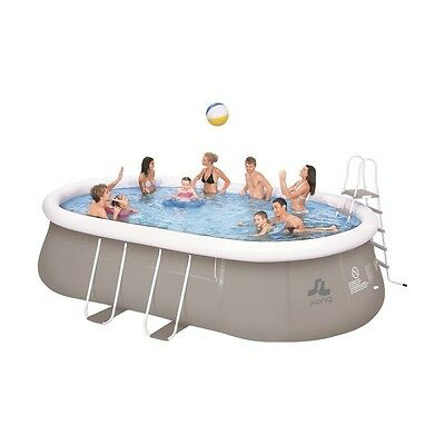 Jilong Chinook Grey 540 Set - steel frame quick-up pool, 540x304x106cm with filt
