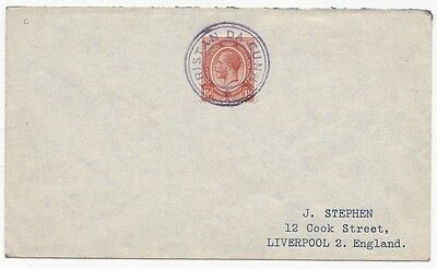 * 1938 South Africa Stamp On Tristan Da Cunha Cachet Cover > J Stephen Liverpool