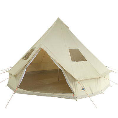 10T Desert 8 - 8 person cotton pyramid tent, sewn in ground sheet