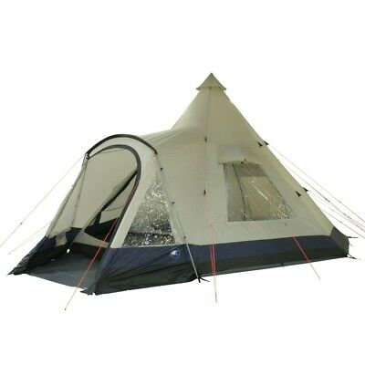 10T Apache 600+ - 12 person teepee tent, sewn in ground sheet, large sleep compa