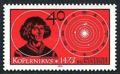 Germany 1104, MNH. Nicolaus Copernicus and Solar System, 1973