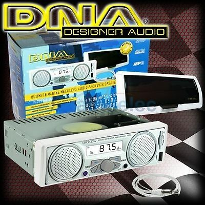 Dna Mechless Marine Am/fm Radio Ipod Mp3 Built In Speakers+ Antenna + Cover Ma6P