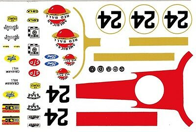 #24 Graham Hill American Red Ball Express Lola 1966 1/25th - 1/24th ScaleDecals