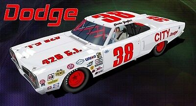 #38 Charlie Glotzbach City Dodge '71 1/24th - 1/25th Scale Waterslide Decals