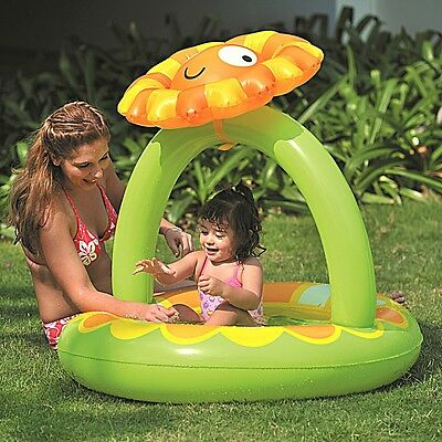 Jilong Sunflower Canopy Pool - children´s paddling pool with inflatable bottom a