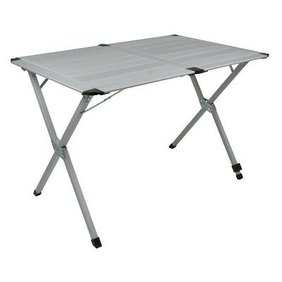 10T AluTab Double - Camping table 110x72 cm with disc system aluminium table top