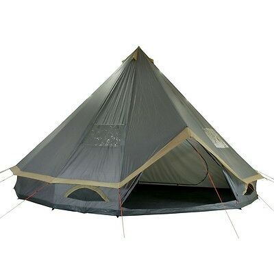10T Mojave 600 Plus - 12-person pyramid round tent with sewn in ground sheet + s