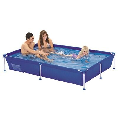 Jilong Passaat Blue 228 - steel frame paddling pool, rectangular pool, 228x159x4