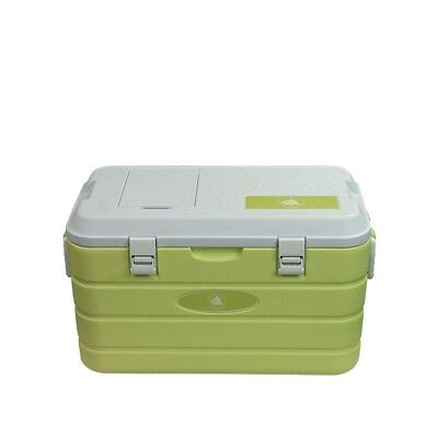 10T Fridgo 40 - Passive cool box, 40 litres with wheels and carry handles, floor