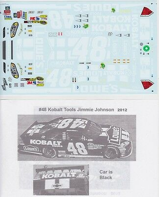 #48 JIMMY JOHNSON LOWES 2012 Hendrick Motorsports Decals PS