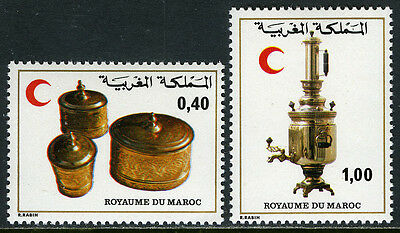 Morocco 432-433, MI 902-903, MNH. Red Crescent Society. Brass Containers, 1979