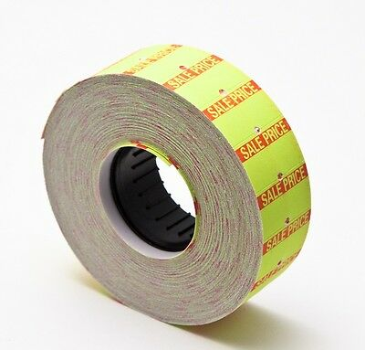Yellow motex mx-5500 label With Sale sign in red color 10 rolls of 1000(10,000)