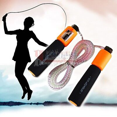 Skipping Rope With Counter Jump Speed Exercise Rope Boxing Gym Fitness Workout