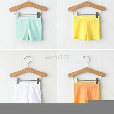 Kids Baby Girl Soft Modal Short Pants Leggings Summer Stretch Safety Shorts 2-7Y