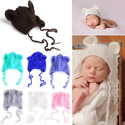 Newborn Baby Girls Boys Knit Photo Hat Crochet Costume Photography Prop Outfits