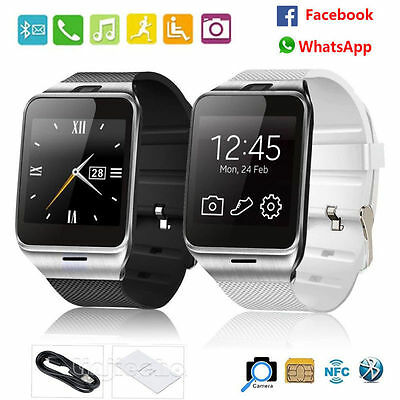 GV18 Waterproof Bluetooth Smart Watch Camera GSM NFC SIM Slot For IOS & Android