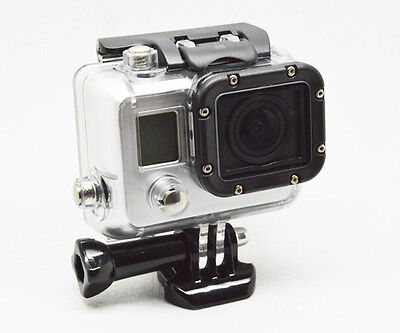 Skeleton Protective Side Open FPV Housing Case with Lens for Gopro Hero 3 white