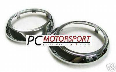 For Hyundai Coupe 2002 - 2004 Chrome Front Fog Lights Rings