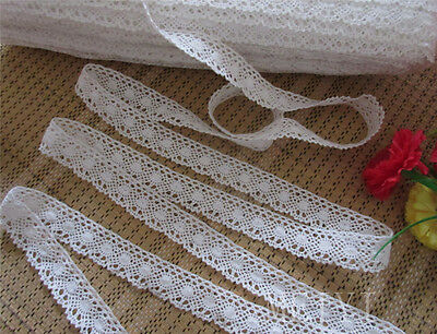 9yd Vintage Embroidered Lace Edge Trim Ribbon Applique DIY Crochet Sewing Craft
