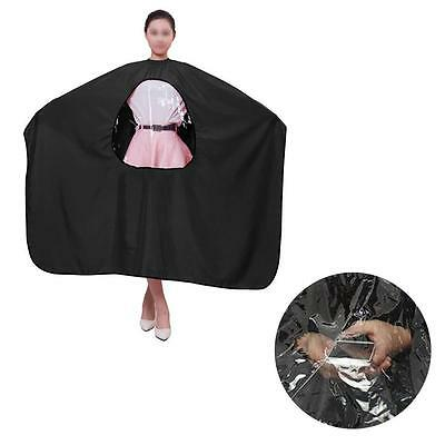 View Window Salon Barber Hairdressing Hairdresser Hair Cutting Gown Cloth Cape