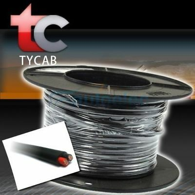 4mm TWIN CORE CABLE x 30M METRE ROLL AUTOMOTIVE WIRE 12V 2 CORE CAR 4X4 LIGHTS