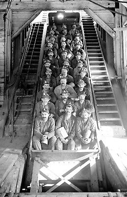 """1906 Miners Just Up From the Mines Vintage Photograph 11"""" x 17"""" Reprint"""