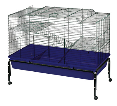 Heritage Rabbit Double Deck Cage Large Indoor Hutch Cages Guinea Pig Home Bunny