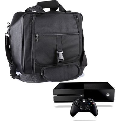 New Black Premium Console Travel Carrying Case In-Car Bag For Xbox One