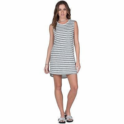 42438a70be0 2016 NWOT WOMENS VOLCOM LIVED IN RIB DRESS  35 S gray heather stripe tank  dress