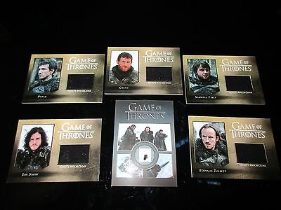 Game of Thrones Season 5 (Five) - Master Set with Binder (No Gold Parallels)