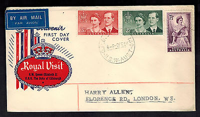 1947 Australia First Day Cover to England Royal Visit FDC