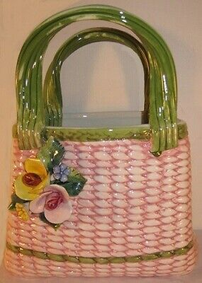 Intrada Italy Pink Bag with Roses