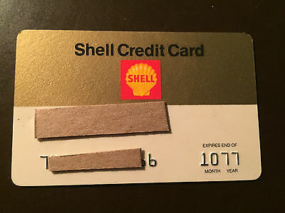 Shell Oil Company 1977 Vintage Collectors Credit Card