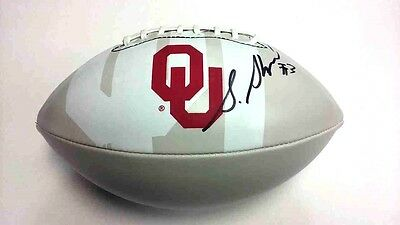 STERLING SHEPARD Oklahoma Sooners OU SIGNED Logo Football NEW YORK GIANTS