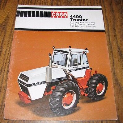 Case Dealers 4490 Tractor 4WD Sales Brochure Literature Collectible Advertising
