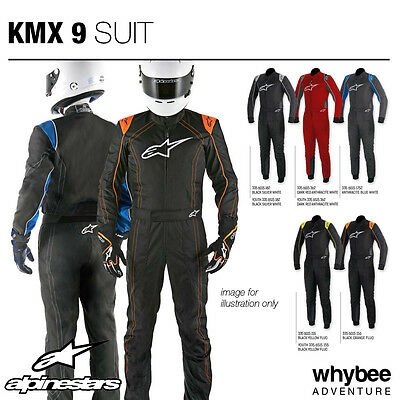 Sale! 3356015 Alpinestars 2018 KMX-9 KART SUIT in 4 Colours! CIK-FIA for Karting