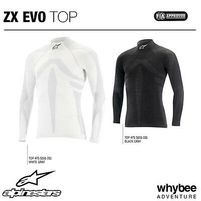 4755016 Alpinestars ZX TOP EVO LS Long Sleeve Fireproof Racing Underwear FIA