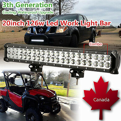 20 inch CREE Led Work Light Bar Combo Offroad Headlight Driving Bumper SUV Truck