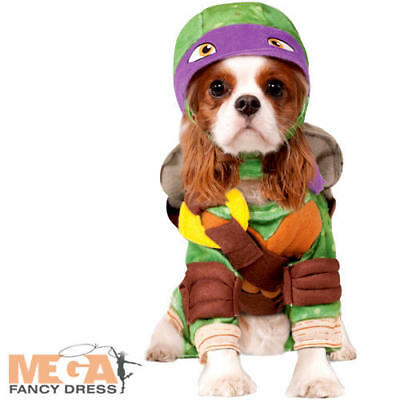TMNT Donatello Dog Fancy Dress Superhero Teenage Mutant Ninja Turtle Pet Costume